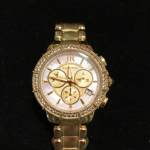 Judith Ripka Gold Tone Stainless Steel Watch